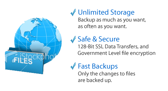 Unlimited online backup, powered by Hodge Interactive and Mozy